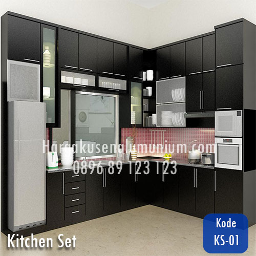 Harga model kitchen set murah 01 harga pasang kusen for Harga kitchen set aluminium