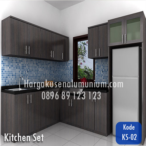 Harga model kitchen set murah 02 harga pasang kusen for Harga kitchen set aluminium