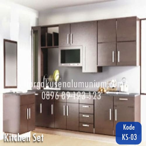 Harga model kitchen set murah 03 harga pasang kusen for Harga kitchen set aluminium per meter
