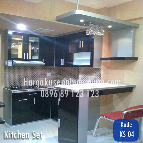 Harga model kitchen set murah 04 harga pasang kusen for Harga kitchen set aluminium
