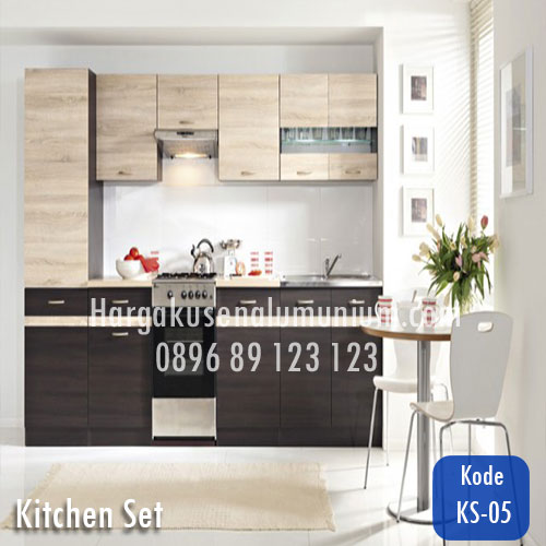 Harga model kitchen set murah 05 harga pasang kusen for Harga kitchen set aluminium per meter