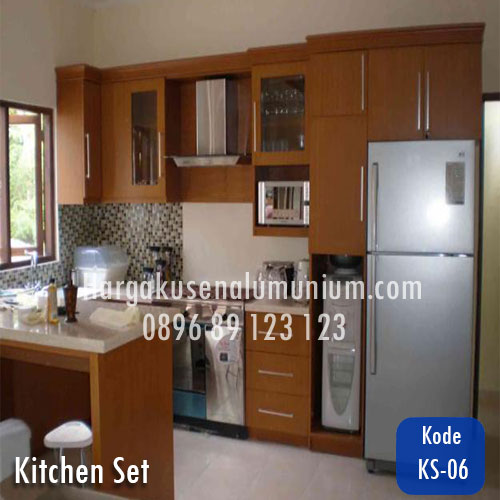 Harga model kitchen set murah 06 harga pasang kusen for Harga kitchen set aluminium per meter