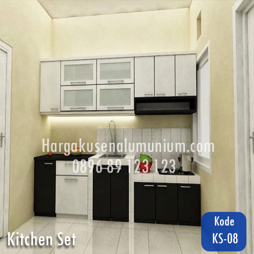 Harga model kitchen set murah 08 harga pasang kusen for Harga kitchen set aluminium