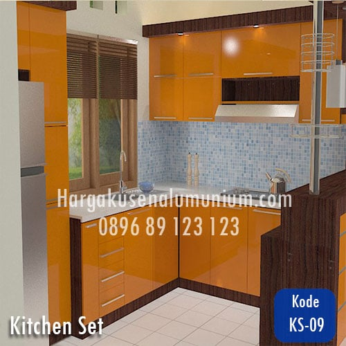 Harga model kitchen set murah 08 harga pasang kusen for Harga kitchen set aluminium per meter
