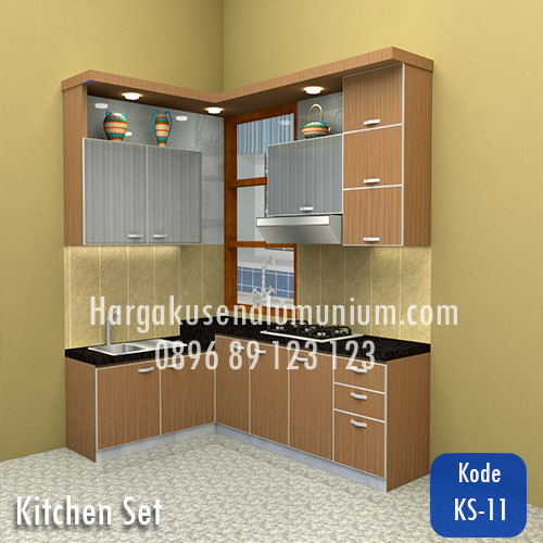 Harga model kitchen set murah 11 harga pasang kusen for Harga kitchen set aluminium