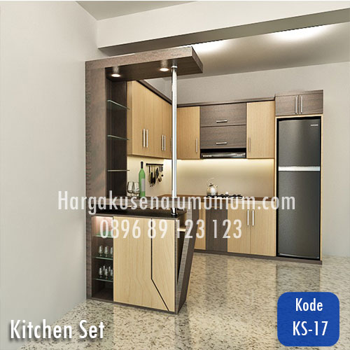 Harga model kitchen set murah 17 harga pasang kusen for Harga kitchen set aluminium