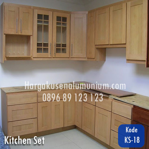 Harga model kitchen set murah 18 harga pasang kusen for Daftar harga kitchen set aluminium