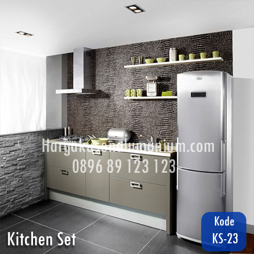 Harga model kitchen set murah 23 harga pasang kusen for Daftar harga kitchen set aluminium