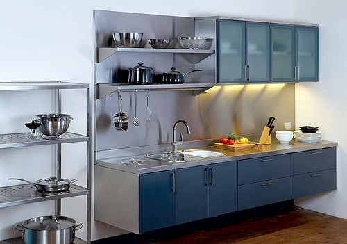 Kitchen set minimalis berbahan aluminium harga pasang for Harga kitchen set aluminium per meter