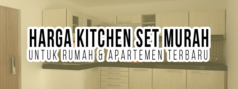 Harga kitchen set murah for Harga kitchen set aluminium